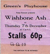 Wishbone Ash - The Average White Band - 07/12/1972