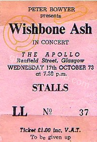 Wishbone Ash - Home - 17/10/1973