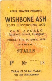 Wishbone Ash - Eno and the Winkies - Greenmantle - 11/10/1974