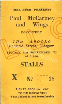 Paul McCartney & Wings - 21/09/1975