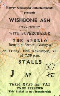 Wishbone Ash - Supercharge - 19/11/1976