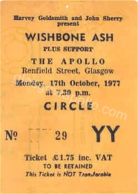 Wishbone Ash - The Motors - 17/10/1977