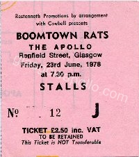 The Boomtown Rats - The Young Ones - 23/06/1978