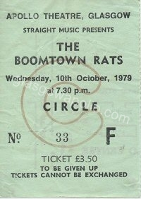 The Boomtown Rats - Protex - 10/10/1979