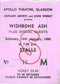 Wishbone Ash - The Dukes - 26/01/1980