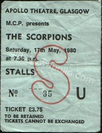 The Scorpions - Tygers Of Pan Tang - 17/05/1980