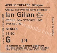 Gillan - Quartz - White Spirit - 24/10/1980