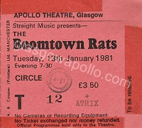 The Boomtown Rats - Atrix - 13/01/1981