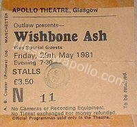 Wishbone Ash - Nicky Moore Band - 29/05/1981